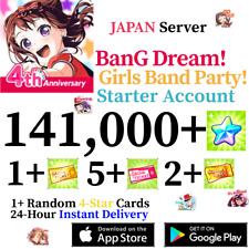 [JP] [INSTANT] 141000+ Gems + 4* + More! | BanG Dream Account Girls Band Party