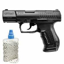 SET Walther P99 Schwarz Softair-Pistole 6 mm BB < 0,5 Joule (P14) + 800 BB