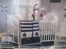 Nautica Baby Nursery Separates Musical Mobile Sailboats & Anchors Navy & Gray