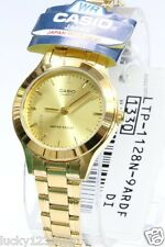 LTP-1128N-9A Gold Casio Damen Dame Analog Uhr Mode Stahlband