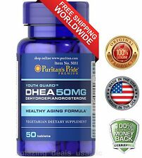 Puritan's Pride DHEA 50mg 50 Tablets Feel Younger, Bring back stamina and Vigor