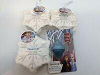 Disney Lot Of 4 FROZEN 2 Items - Bath Salts Vanilla Frost Scent 3.5oz - Lip Balm