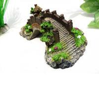 Nice Bridge Aquarium Fish Tank Vivid Decoration Ornament landscape Bridge