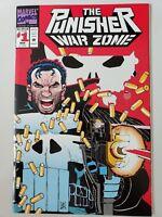 THE PUNISHER WAR ZONE #1 (1992) MARVEL COMICS DIE-CUT COVER! JOHN ROMITA JR NM