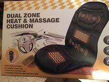 Relaxzen 6-Motor Massage Seat Cushion with Heat  Model 60-2916MP2 - Black