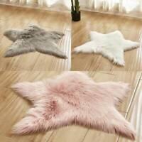 Star Rug Plush Children Kids Non Slip Bedroom Floor Mat Baby Room Nursery Carpet
