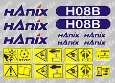 Décalque Autocollant Graphiques Ensemble Pour: Hanix H08B. Mini Digger pelle pelle