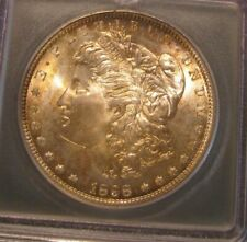 1898 O Morgan Silver Dollar - ICG MS 67, Gold toning, RARE in this Grade 3496