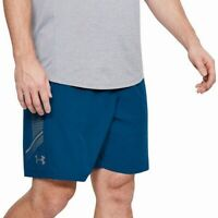Under Armour Mens Shorts Blue Size Small S Woven Graphic Stretch $30 #442