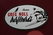 VINTAGE Surfing GREG NOLL VINYL 4X6in STICKER - DA BULL LOGO DECAL LONGBOARD