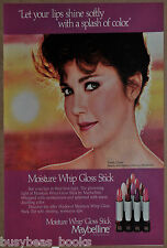 1984 Maybelline advertisement, LYNDA CARTER, with Lipstick