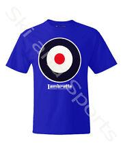 Lambretta Target Mens Cotton T-shirt Sz S Royal Blue Retro/vintage Mod