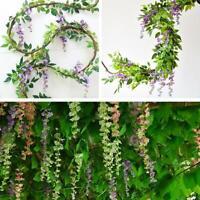 Flower String Artificial Wisteria Vine Garland Plants Foliage Outdoor Hot Sale