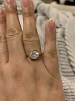 Moonstone Ring Size 7.5 Plated