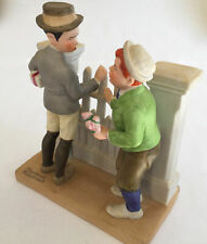 "Large Danbury Mint Norman Rockwell Figurine Boys ""The Rivals"" 6x5.25x2.75"" 1.2Lb"