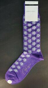 VK Nagrani Men's Dress Socks Mid Calf M101 FIORELLINI PURPLE
