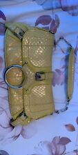 Yellow Dolce And Gabbana D&G Bag Snakeskin Vintage