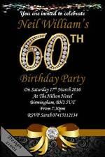 10 x Personalised 60th Birthday Party Invites / Invitations & Envelopes 21001