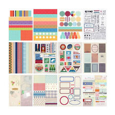 Craft Stamp Stickers 12 sheets Vintage Style Paper Seals Journal Scrapbook Cards