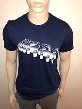 Mens 2018 Hugo Boss 3D Impresión Camiseta Medio INDIGO BNWT RRP £ 55 £ 27.99