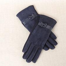 Elegant Women's Winter Warm Screen Riding Drove Gloves Full Finger Velvet Motten