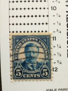 USA stamps 5c Roosevelt perf10 3/4buona centratura