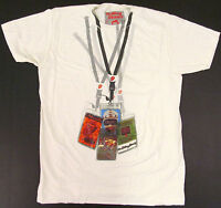 ROLLING STONES Backstage Passes T-shirt Classic Rock Tee Adult XL Creme New