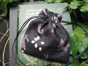 Hare drawstring bag for - Crystals - Spells - Charms - Pagan, Witchcraft