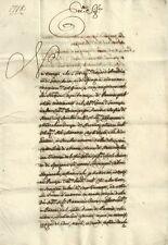 Ducati di Parma e Piacenza Manoscritto Grida Contro Giuseppe Calvi 1718