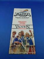 PSA PACIFIC SOUTHWEST AIRLINES FLIGHT SCHEDULE JANUARY 1983 VACATION BONANZA