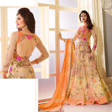 NEW BRIDAL ANARKALI SALWAR KAMEEZ DESIGNER SALWAR SUIT ETHNIC WEDDING DRESS