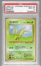 1998 Japanese VENDING Series 3 III 123 SCYTHER PSA 10 Low Population