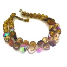 Vintage Marvella Amber Petite Neck Choker with Glass Beads