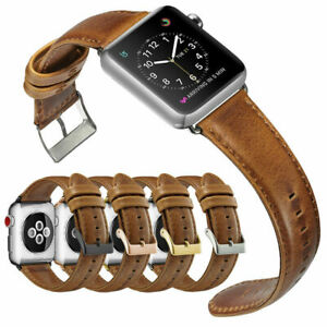 Leather Wrist Watch Band Wrist Straps For Apple iWatch Series7 6 5 4 3 2 1 SE