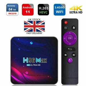 H96 MAX V11 Android 11.0 TV Box Dual WIFI 4GB 32GB Smart Set Top Player UK