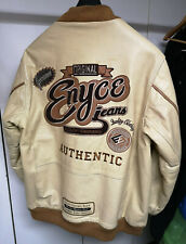ENYCE Jeans Full Leather Bomber Jacket. Used with Appropriate Wear Marks. Large