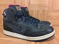 RARE🔥 Nike Terminator Hi Premium Denim Obsidian Black Bone Sz 10.5 307893-441
