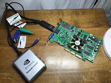 eVGA Fx5200 128mb AGP Vintage PC Graphics Card TV Tuner & Nvidia Personal Cinema