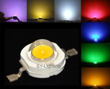 High power 1W 3W RED WHITE BLUE GREEN YEELOW UV WARM WHITE LED Light Diode