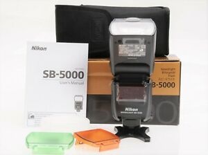 NIKON SB-5000 AF SPEEDLIGHT RF CONTROLLED WIRELESS FLASH  LIGHTING. WARRANTY