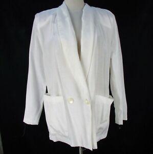 1980/'s Blazer Vintage Caroll Paris Jacket 80/'s Boxy Gray White Blazer Shoulder Pads Equestrian Style Riding Jacket Made in France Medium