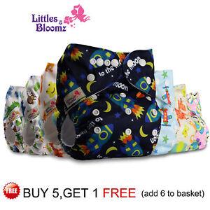 Reusable Cloth Nappy Washable Baby Pocket Diaper STANDARD Popper Adjustable Wrap