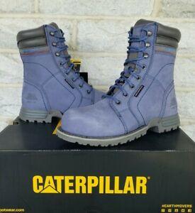 "Caterpillar CAT Womens 8"" Echo Steel Toe WP Work Boots Size 8 Marlin P90567 $155"