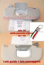 ALETTE PARASOLE ALFA 147 DAL 2000 AL 2010 ORIGINAL SX 0156065298 + DX 0156070684
