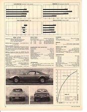 1969 BUICK OPEL 1.9 GT ~ ORIGINAL SPECS ARTICLE / AD
