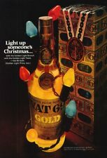 goods Vat 69 Golden Light Blended Scotch Whiskey 1970 liquor ad retro poster