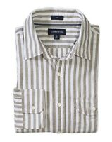 J.Crew Men's Slim Fit - Gray Striped Slub Poplin Spread Collar Button-Down Shirt