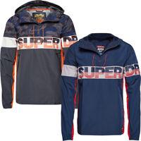 Superdry Mens Tracksuit Jacket Ryley Overhead Half Zip Running Top Casual Hoodie