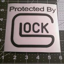 Protected By Glock Gun Pistol Sticker Decal Car Handgun Shooting Truck Accessory