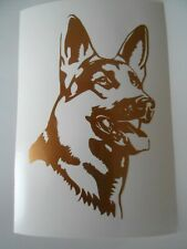 Schäferhund Aufkleber in kupfer neu 12 x 8 cm